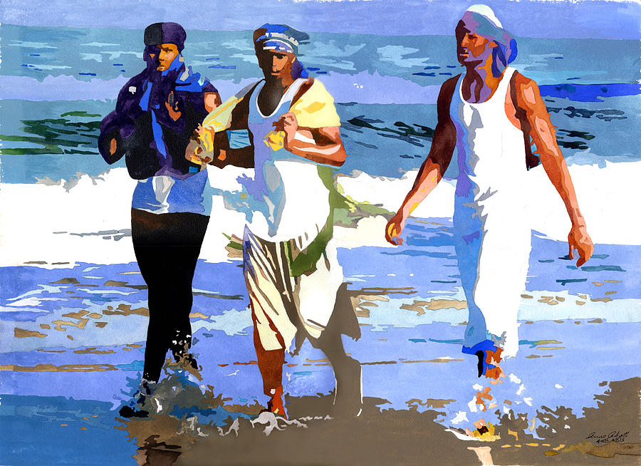 900x654 Beach Rhythms Painting By Anne Abgott