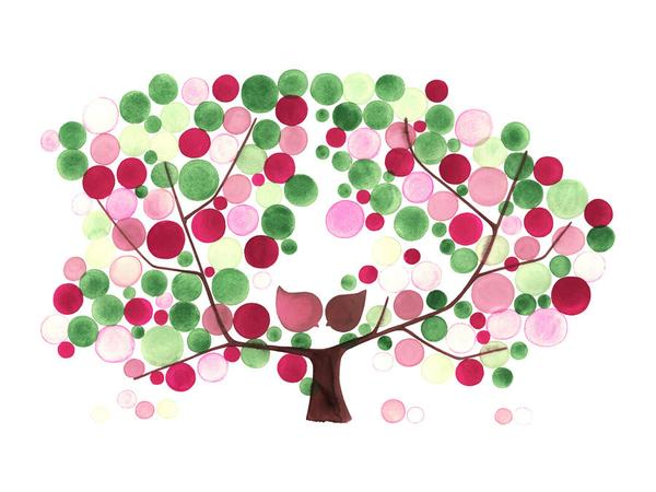 Apple Tree Watercolor