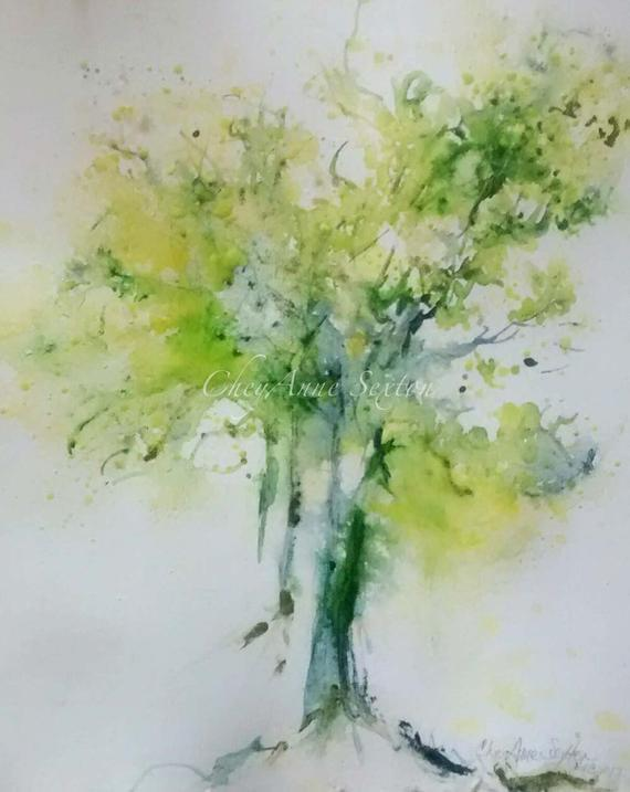570x717 Tree 30in30 Day 2 Narly Old Apple Tree Watercolor 8x10 Print Etsy