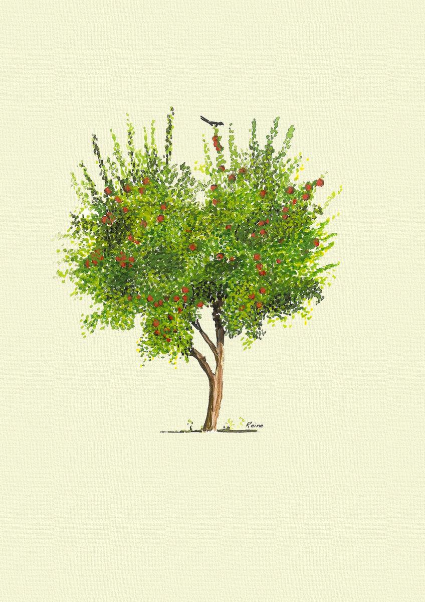 848x1200 Apple Tree Watercolor (Zequeen)