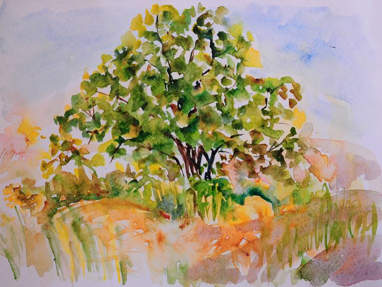 770x578 Apple Tree Or Bodhi Tree Painting By Liana Riazanova