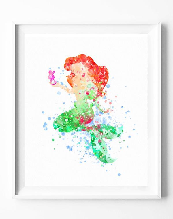 600x761 Disney The Little Mermaid Princess Ariel Art Print Poster
