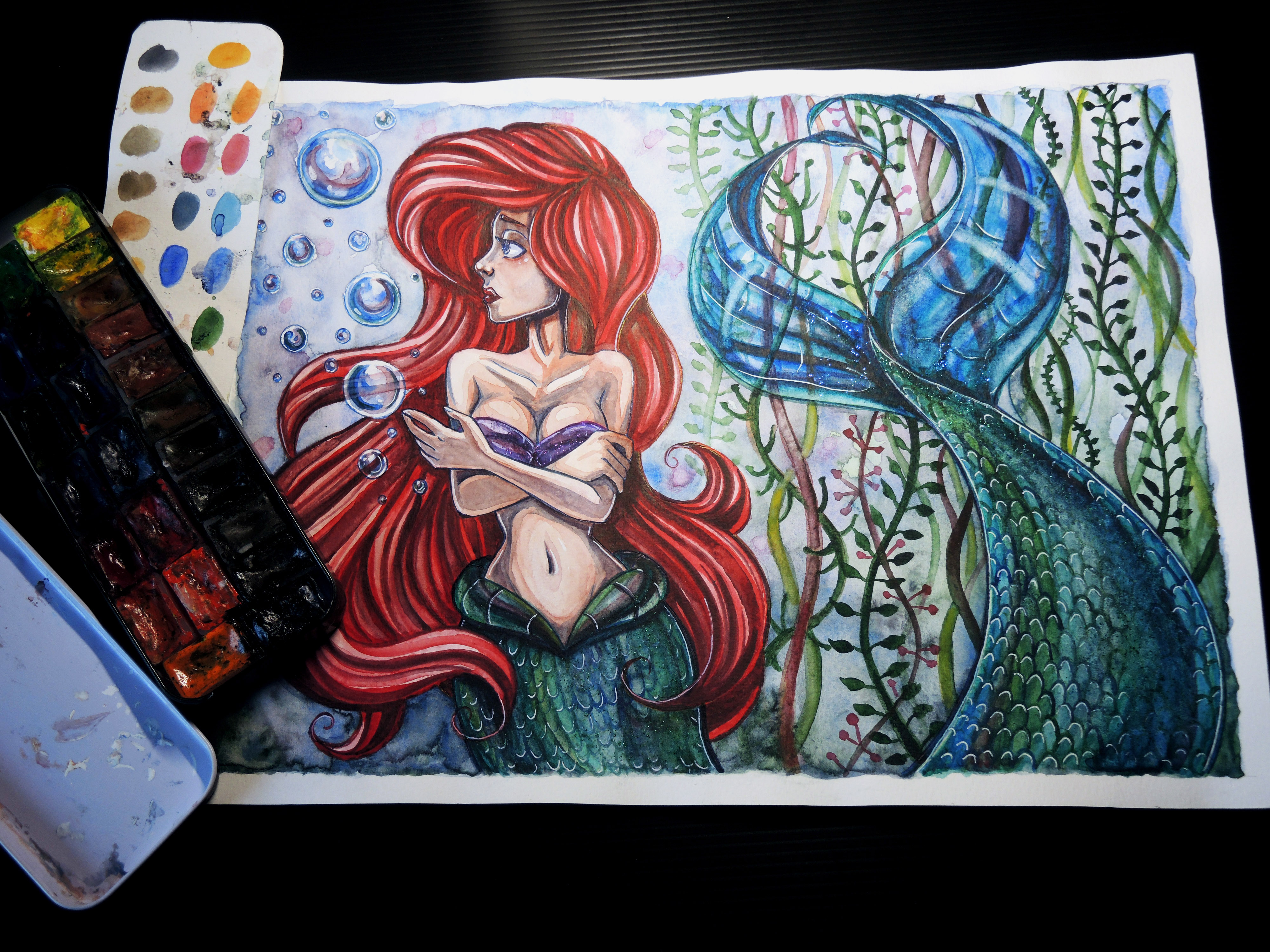 4000x3000 Ariel Watercolor Painting (Original) On Storenvy