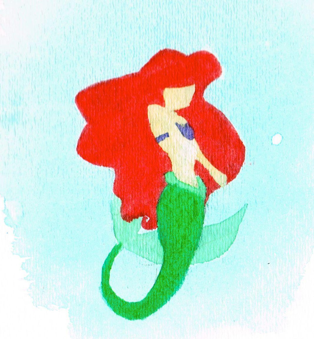 1067x1152 Ariel, Watercolor Paints