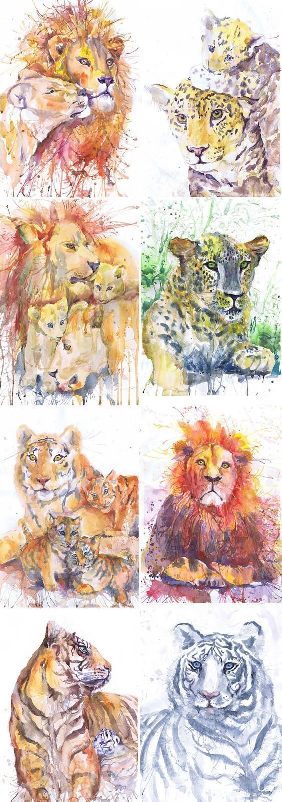 564x1602 Aceo Artist Trading Cards Art Prints Watercolor By Valrart On Etsy