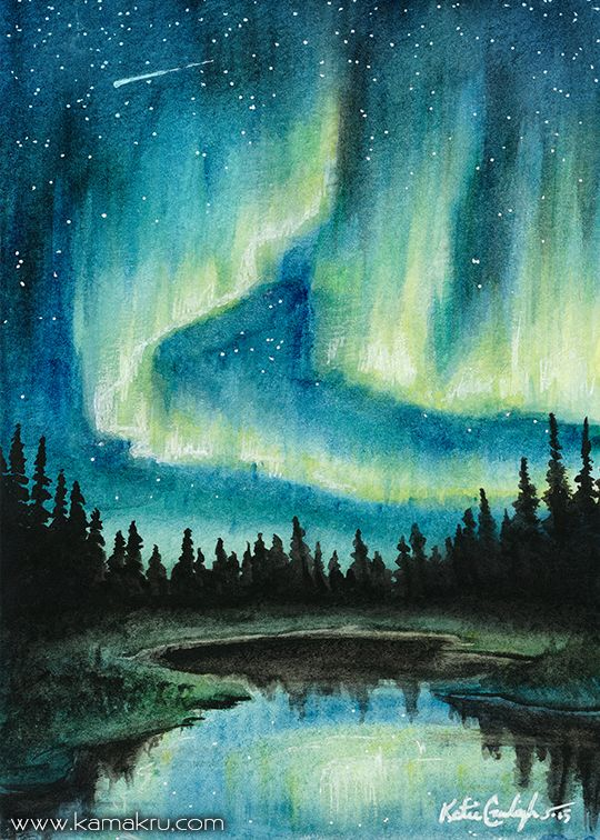 540x756 Image Result For Watercolor Aurora Borealis Inner Artist In 2018