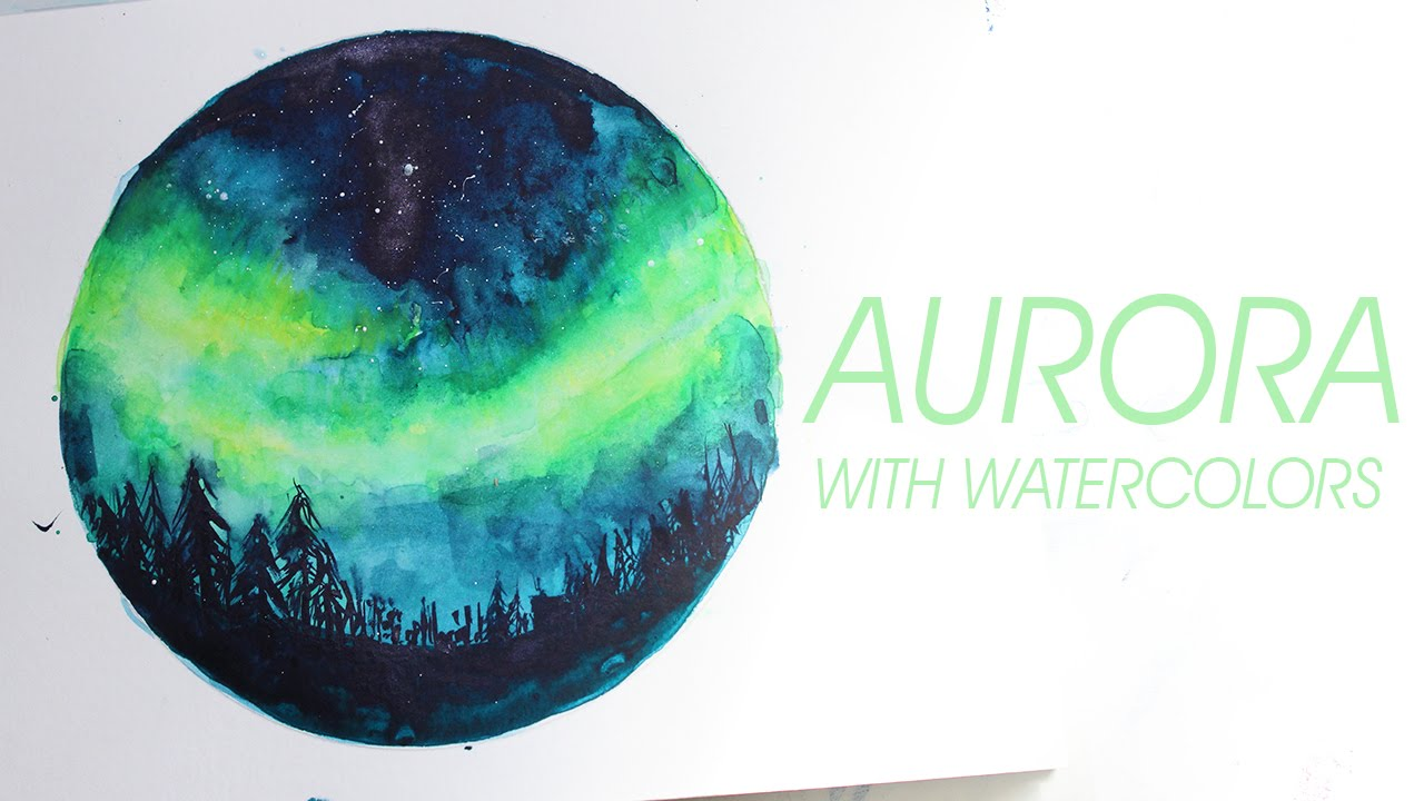 1280x720 Aurora Watercolor