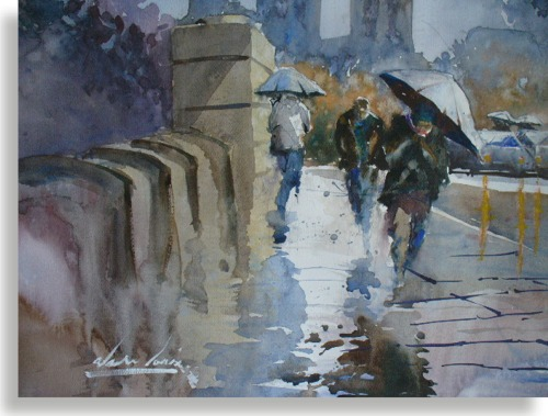 500x379 Paintings South Australia Watercolours By Alan Louis
