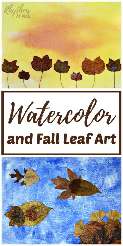 512x1024 Watercolor And Fall Leaf Art Project For Kids Rhythms Of Play