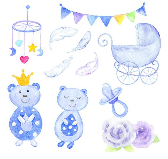 Baby Boy Watercolor