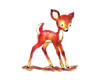 340x270 Baby Deer Watercolor Etsy