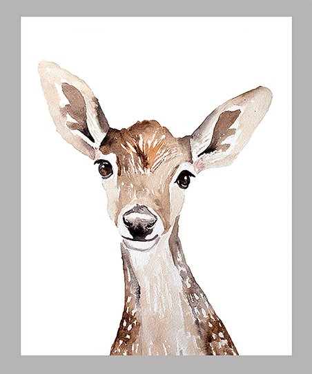452x543 Jenn Seeley Art Baby Deer Watercolor Print Zulily