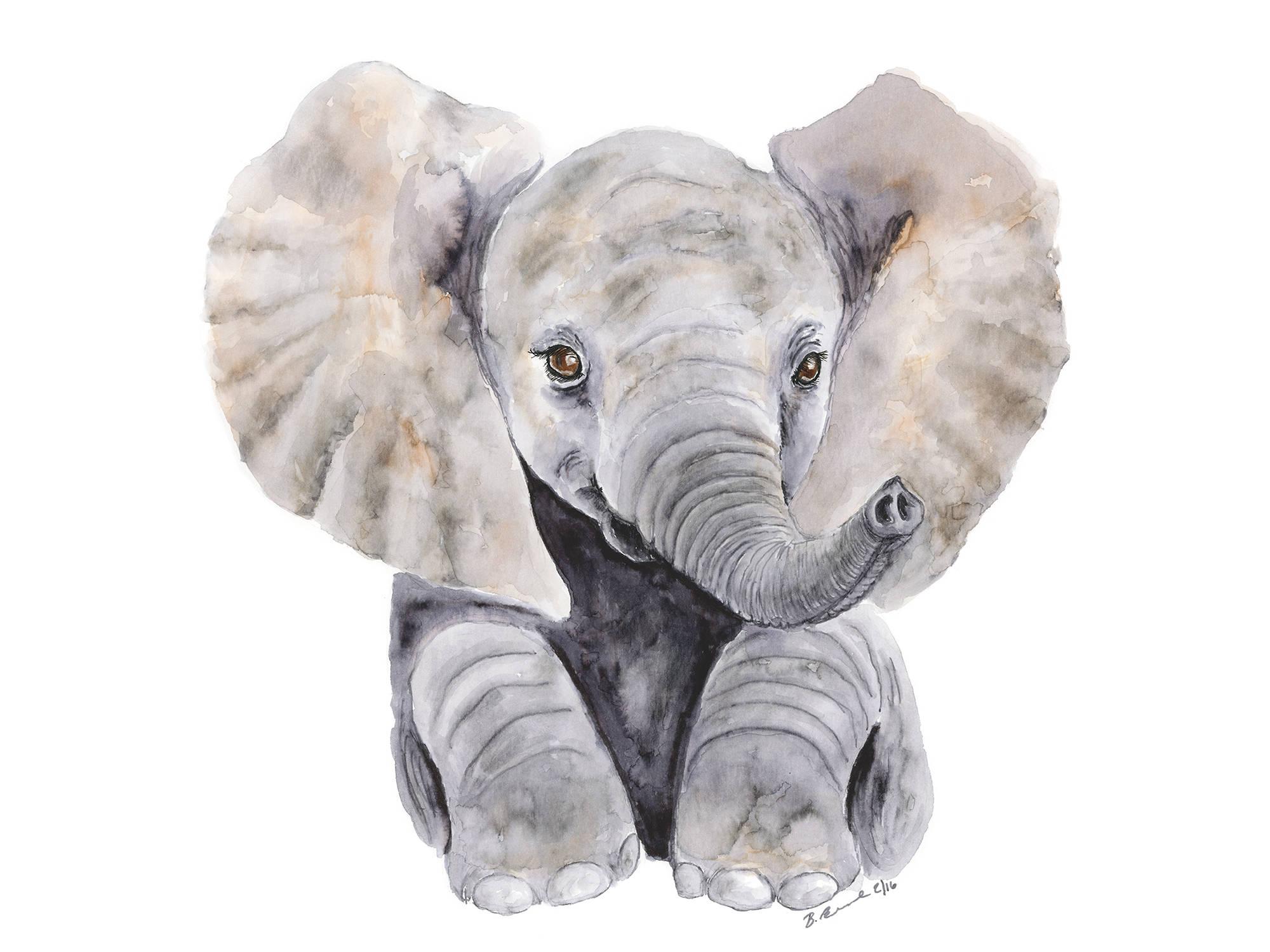 2000x1500 Large Elephant Print Baby Elephant Nursery Watercolor Baby Etsy