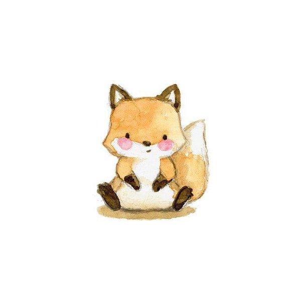 Baby Fox Watercolor