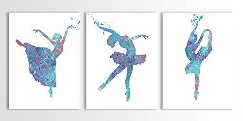 500x250 Ballerina Art, Ballet Decor, Girls Room Decor, Dancing Wall Art