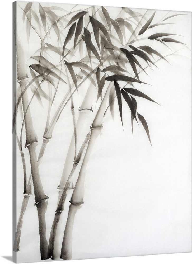 727x1000 Bamboo Watercolor Wall Art, Canvas Prints, Framed Prints, Wall