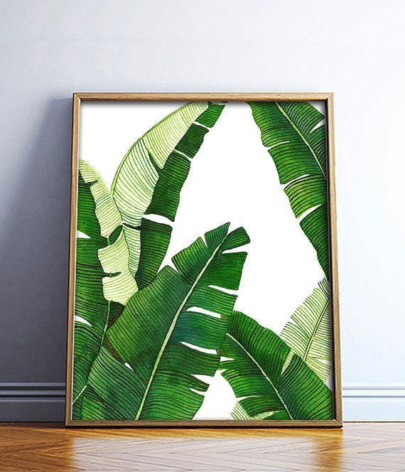 570x664 Banana Leaf Poster Printable File Palm Art Palm By Dantell Fl