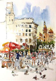 Barcelona Watercolor
