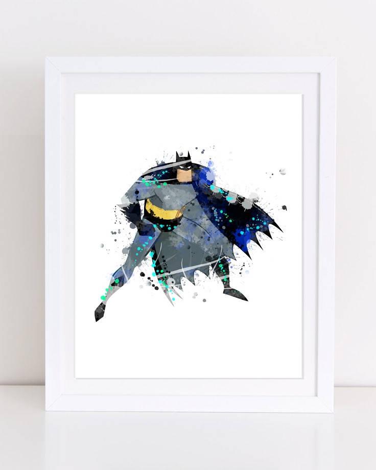 736x920 Batman Watercolor Printable Wall Decor Nursery Wall Art Etsy