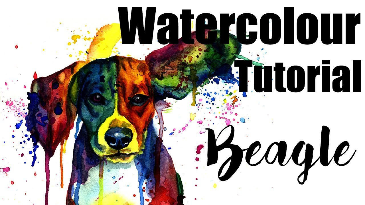 1280x720 Dog In Watercolor Painting Tutorial, Colorful Dog Portrait