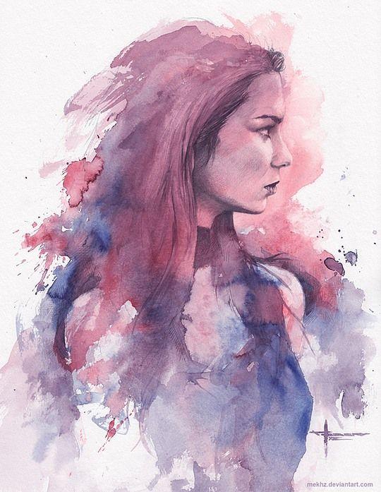 540x697 Beautiful Watercolor Paintings By Mekhz Cruzine Artistic In