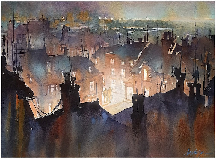 721x529 Beautiful Watercolor Paintings Of Architecture By Thomas W. Schaller