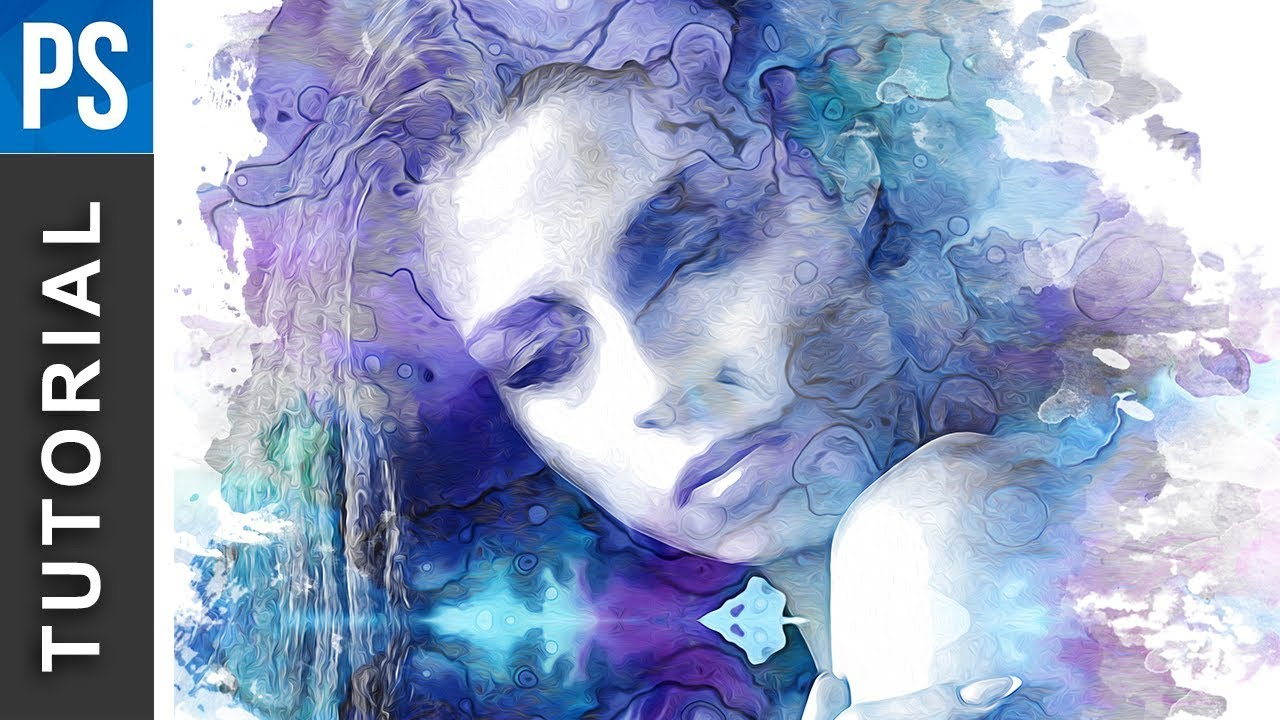 1280x720 Beautiful Watercolor Portrait Effect