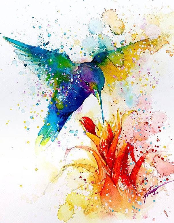 605x775 Beautiful Watercolor Wallpaper