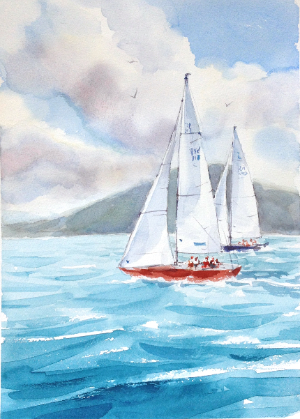 430x601 How To Paint The Ocean In Watercolor