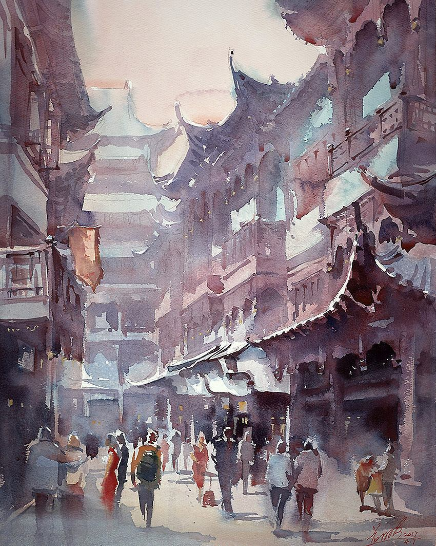 850x1063 This Artist Captures Her Travels In Beautiful Watercolor Paintings