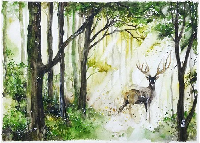 700x500 Beautiful Watercolor Animal Illustrations By Luqman Reza Mulyono