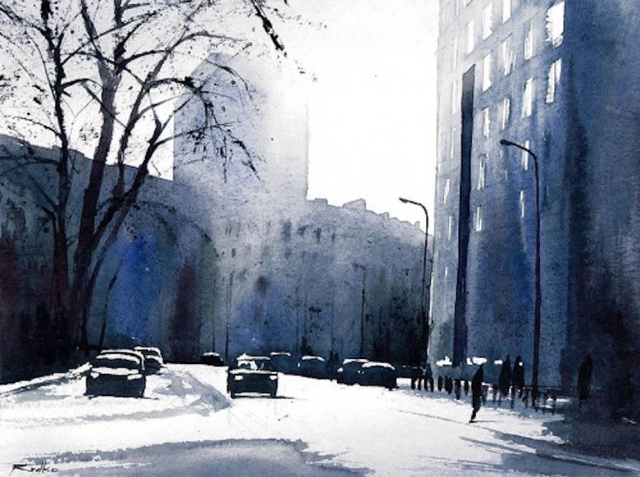 900x671 Beautiful Watercolor Cityscapes By Rafal Rudko Fubiz Media