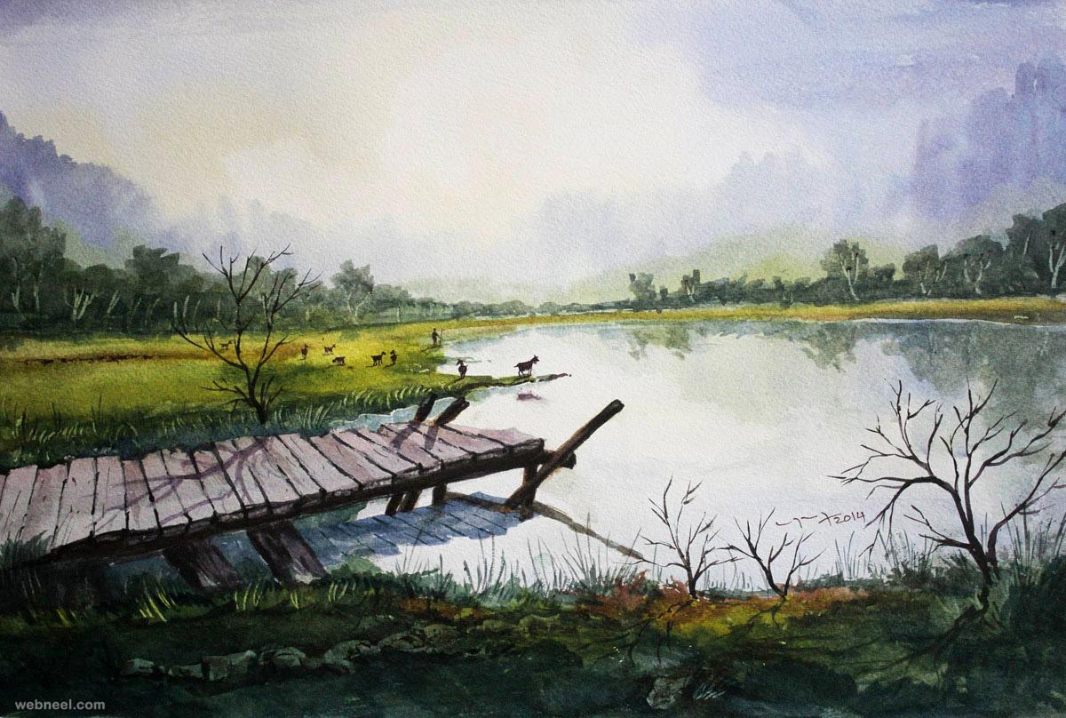 1200x808 Beautiful Watercolor Paintings Nature 50 Best Watercolor Paintings