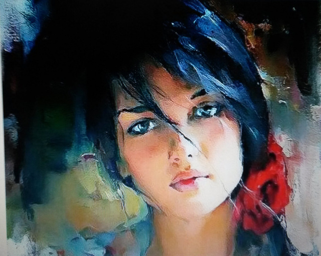 Beautiful Woman Painting Watercolor