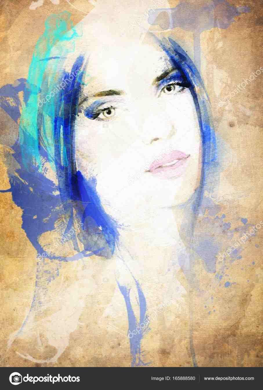 907x1343 Beautiful Woman Painting Watercolor Tr Vbulletin