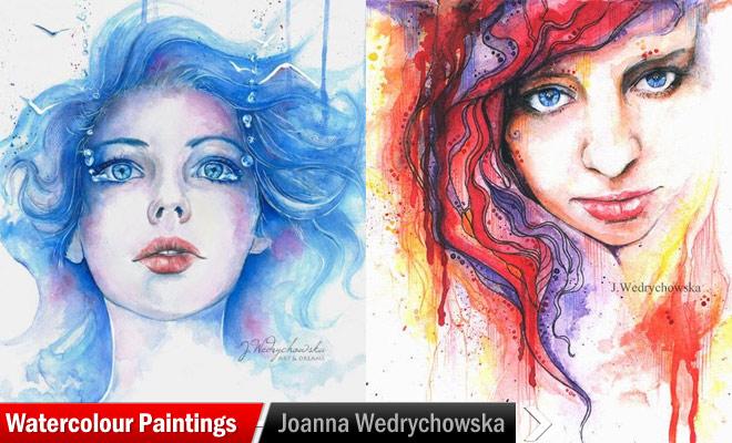 660x400 15 Beautiful Watercolour Paintings By Joanna Wedrychowska