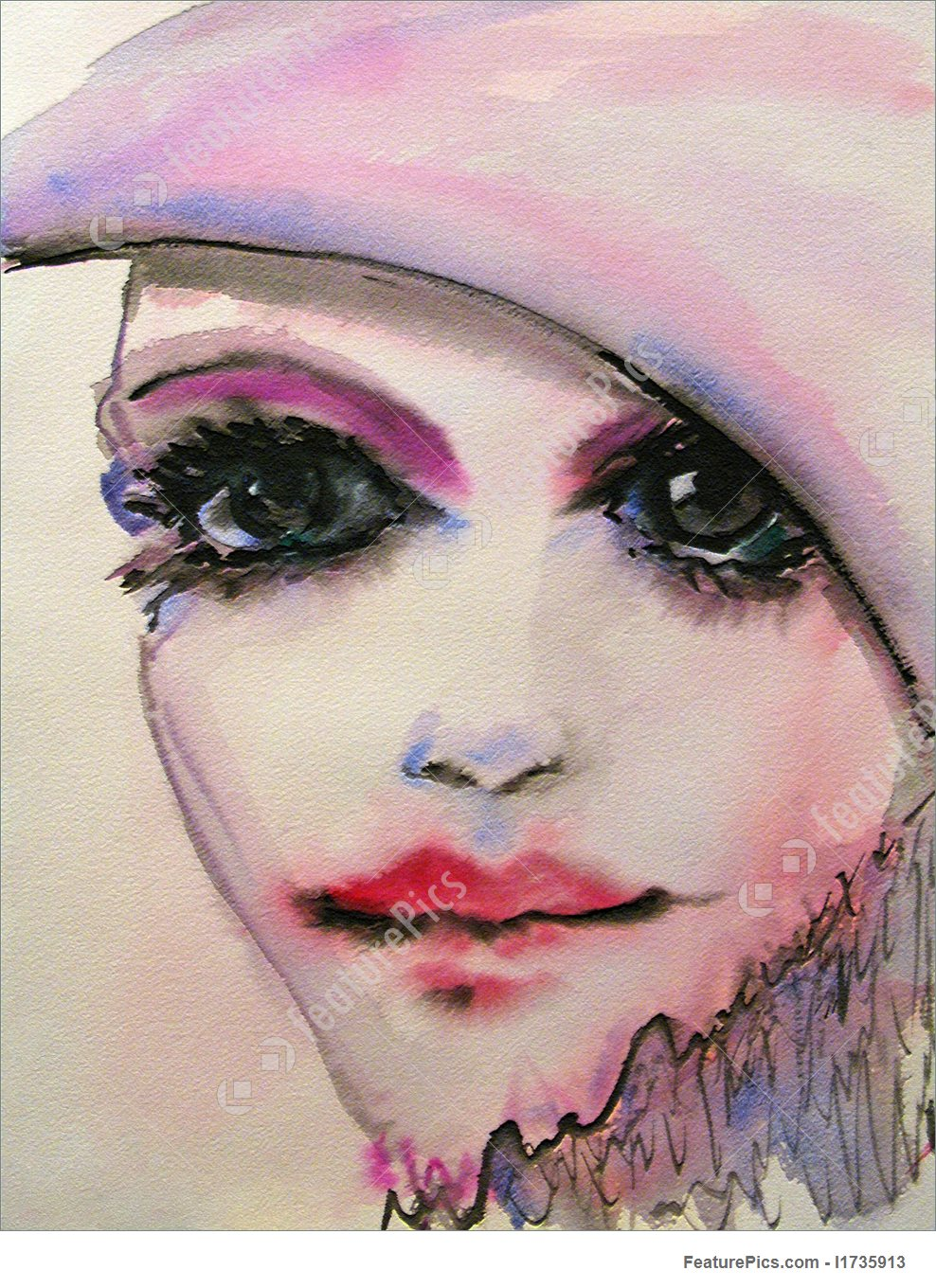 988x1360 Illustration Of Watercolor Beauty