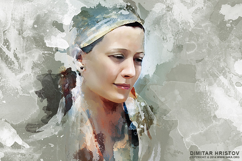 850x567 Portrait Painting Of Beautiful Girl
