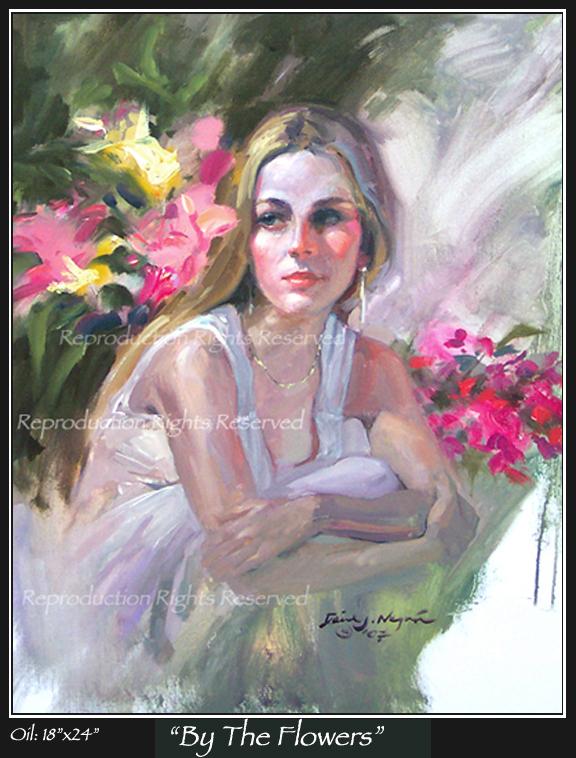 576x758 Romantic, Beautiful Women, Art, Impressionist, Paintings