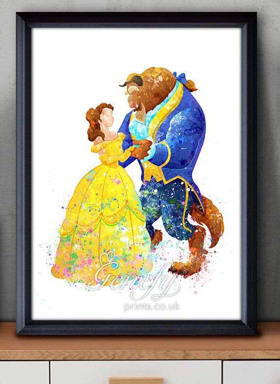 570x781 Disney Princess Watercolor Awesome Disney Princess Belle Beauty