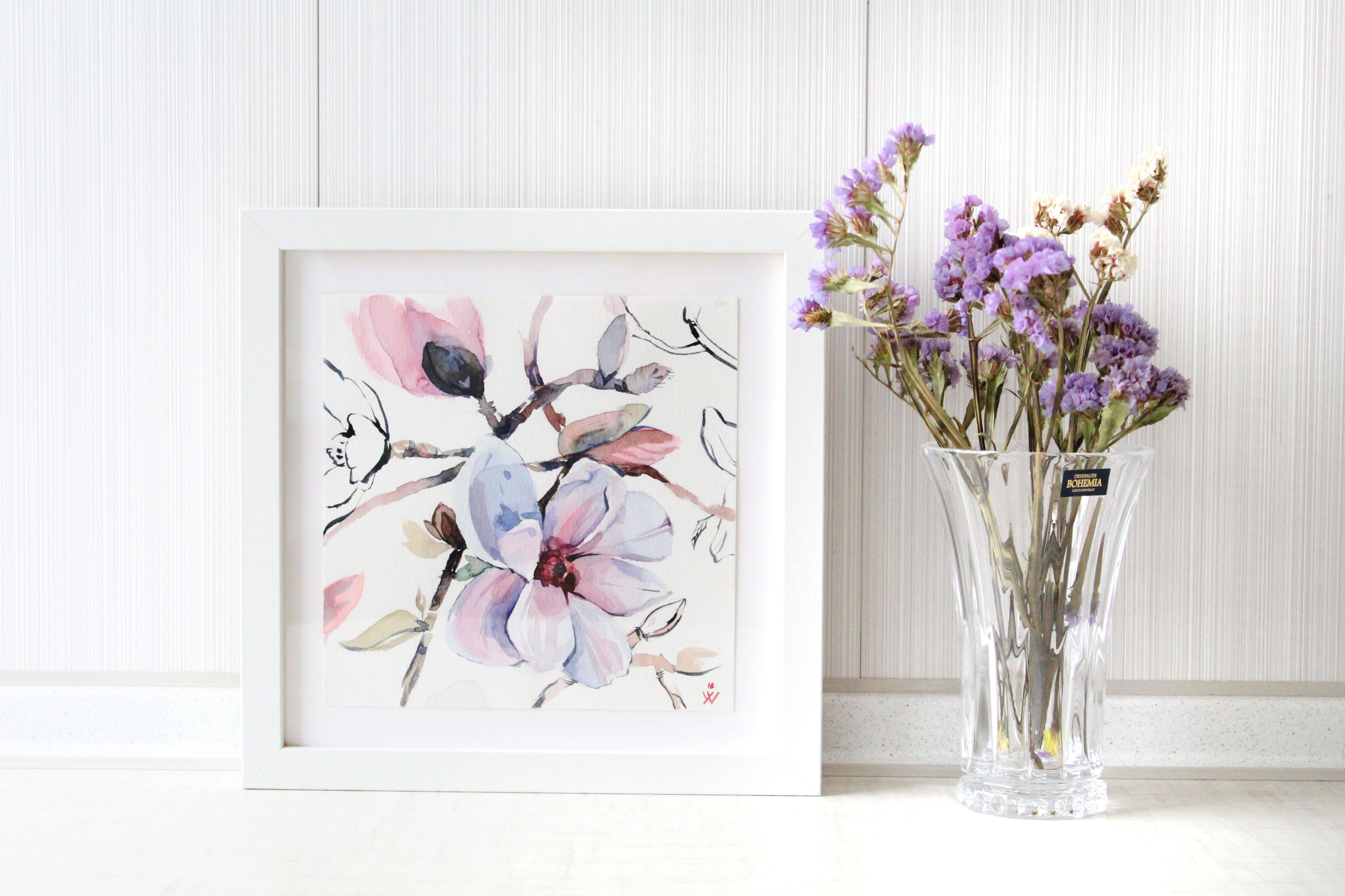 5184x3456 Blush Pink Watercolor Art, Blush Wall Art, Bedroom Wall Art