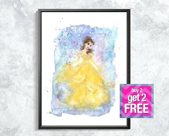 570x457 Disney Wall Decor Belle Print Belle Princess Wall Decor Belle