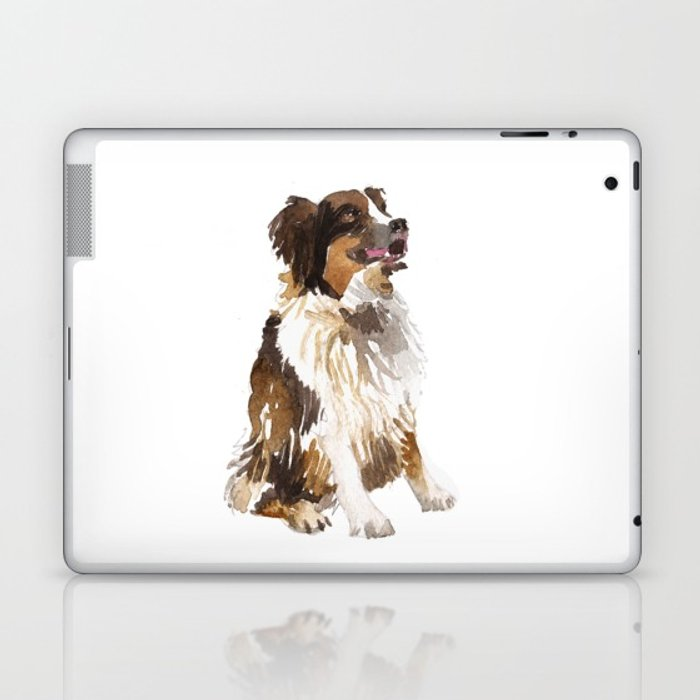 700x700 Watercolor Dog Vol 6 Bernese Mountain Dog Laptop Amp Ipad Skin By