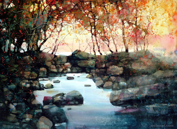 Best Watercolor Landscape Paintings