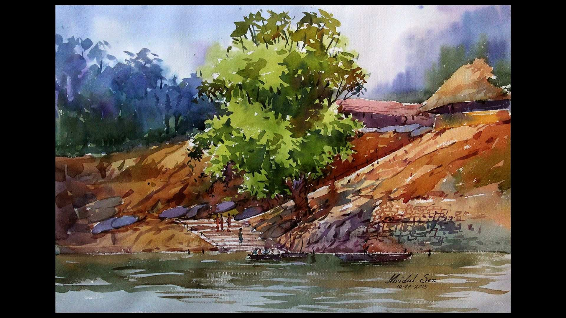 1920x1080 Watercolor Landscape Painting Best Of Watercolor Landscape