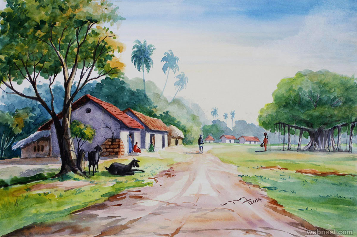 1200x799 Watercolor Paintings Landscapes 50 Best Watercolor Paintings From