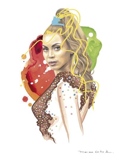 Beyonce Watercolor