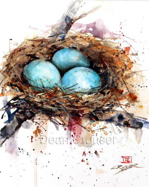 Bird Nest Watercolor