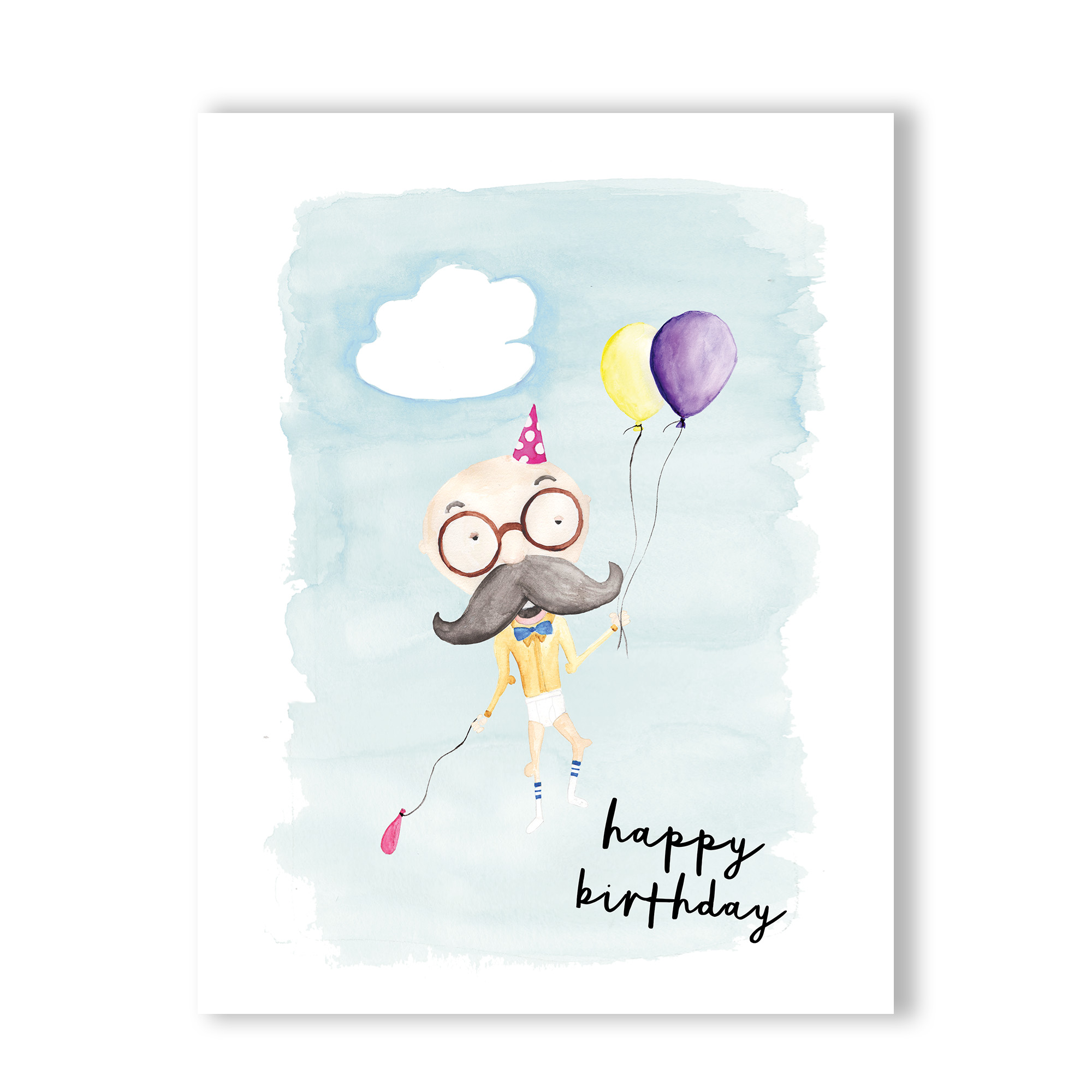 2000x2000 Happy Birthday Watercolor Hearts And Sharts