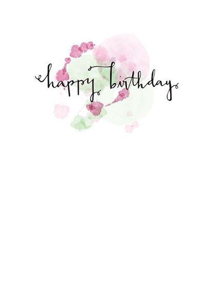 415x550 Atomic Envelopespink Watercolor Script Happy Birthday